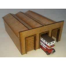 KS36-02-01: N scale 3 Bay Bus Depot