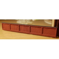 KS27-01-01: N Scale Flemish Brick Wall 8ft scale high