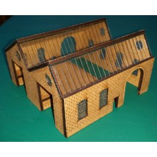 KIT01-01-01L: N Scale Goods Shed North Light with left-hand platform
