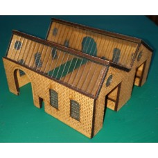 KIT01-01-01R: N Scale Goods Shed North Light with right-hand platform