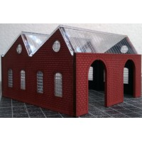 KIT01-03-01: N Scale North Light Engine Shed