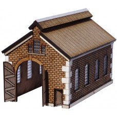 KIT05-02-01: N Scale Pitched Roof Engine Shed with top windows
