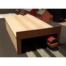 KS36-03-02: OO scale 3 Bay Engine Shed or Bus Depot
