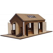 KIT04-01-02: OO Scale Pitched Roof Goods Shed