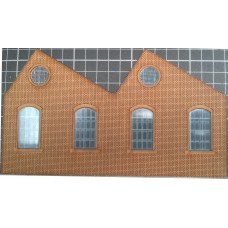 KS01-01-02L OO Scale Single Height North Light Arch Window Ultra Low Relief - Left