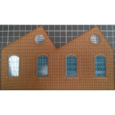 KS01-01-02R OO Scale Single Height North Light Arch Window Ultra Low Relief -Right