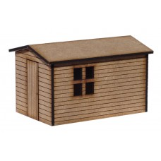 KS29-01-02: OO Gauge Shed with windows scale 12ft x 8 ft