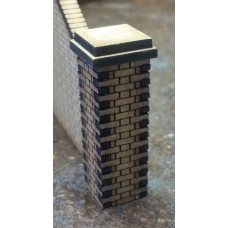 KS28-02-03: O Scale Flemish Brick Pier 5ft scale high