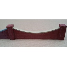 KS27-04-03: O Scale Scalloped Brick Wall 3ft scale high