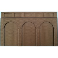 KIT02-01-03: O Scale 3 arch Support/Retaining Wall