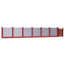 KS27-03-03: O Scale Screen Block and Brick Garden Wall scale 6ft high, 32ft long