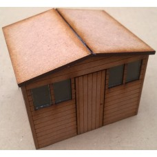 KS29-04-03 O Gauge Apex Roof Shed scale 10ft x 8ft