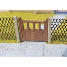 KS30-02-03: O Scale 3ft Wooden Gate Set x2