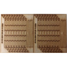 KS32-02-03: O Scale Security Fence Posts - 34 in total