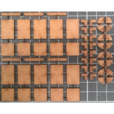 KS39-06-03: O Scale Pack of Loose Paving Slabs