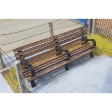 KS80-01-03: O Scale 8ft Park Bench