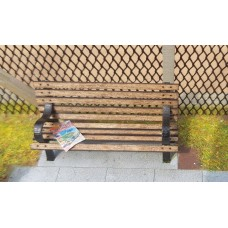 KS80-02-03: O Scale 6ft Park Bench