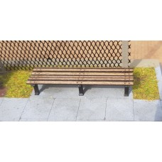 KS80-03-03: O Scale 8ft Park Bench Backless