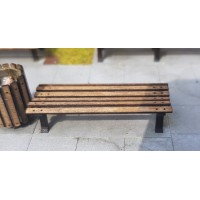 KS80-04-03: O Scale 6ft Park Bench Backless