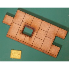 KS39-04-03: O Scale Paving Short Straight With Brass Manhole Cover